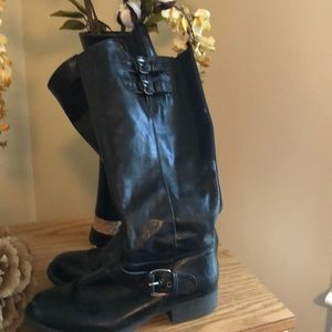 Stretch tall boots